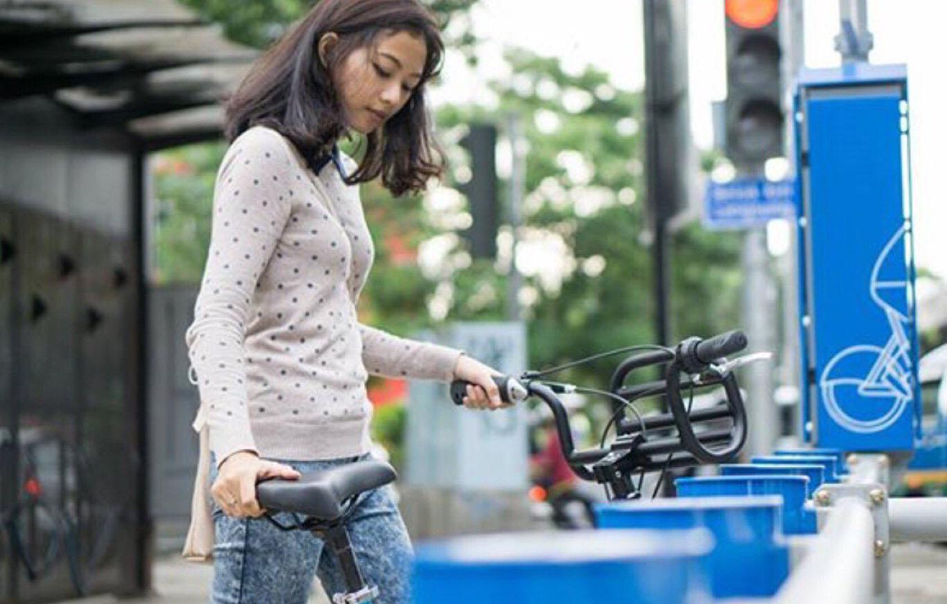 Smart Bike Sharing, Bandung.  Sumber : twitter.com/ridwankamil