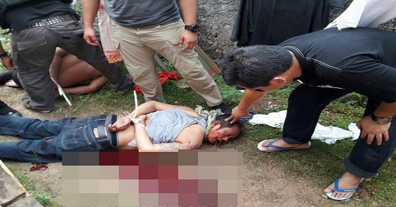 Foto penangkapan salah satu pelaku perampokan di Pulomas yang tersebar di Facebook. (Ist)