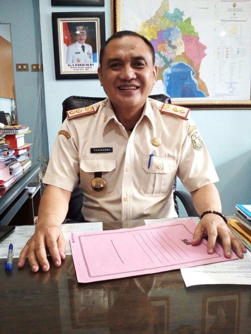 Kepala Dipenda KOta Bandarlampung, Yanwardi. (Foto: Lampungnews.com/El Shinta)