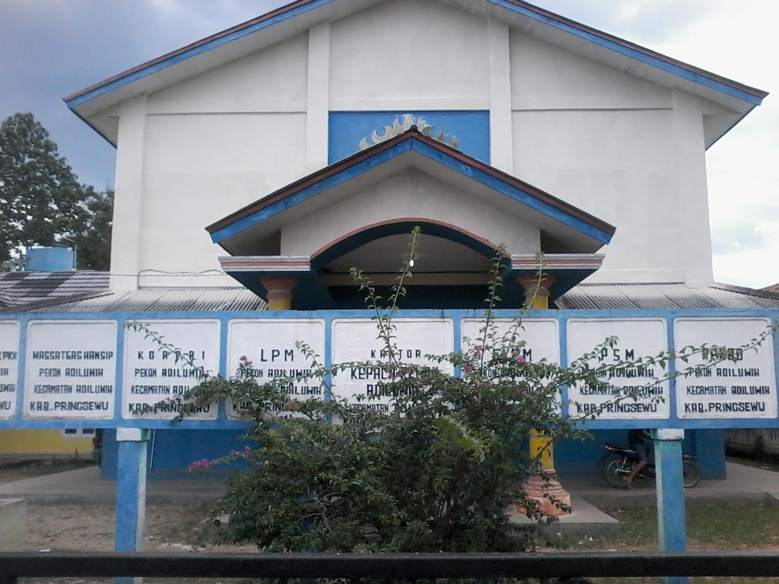 Kantor Kepala Pekon Adiluwih, Kecamatan Adiluwih, Kabupaten Pringsewu.(Anton)