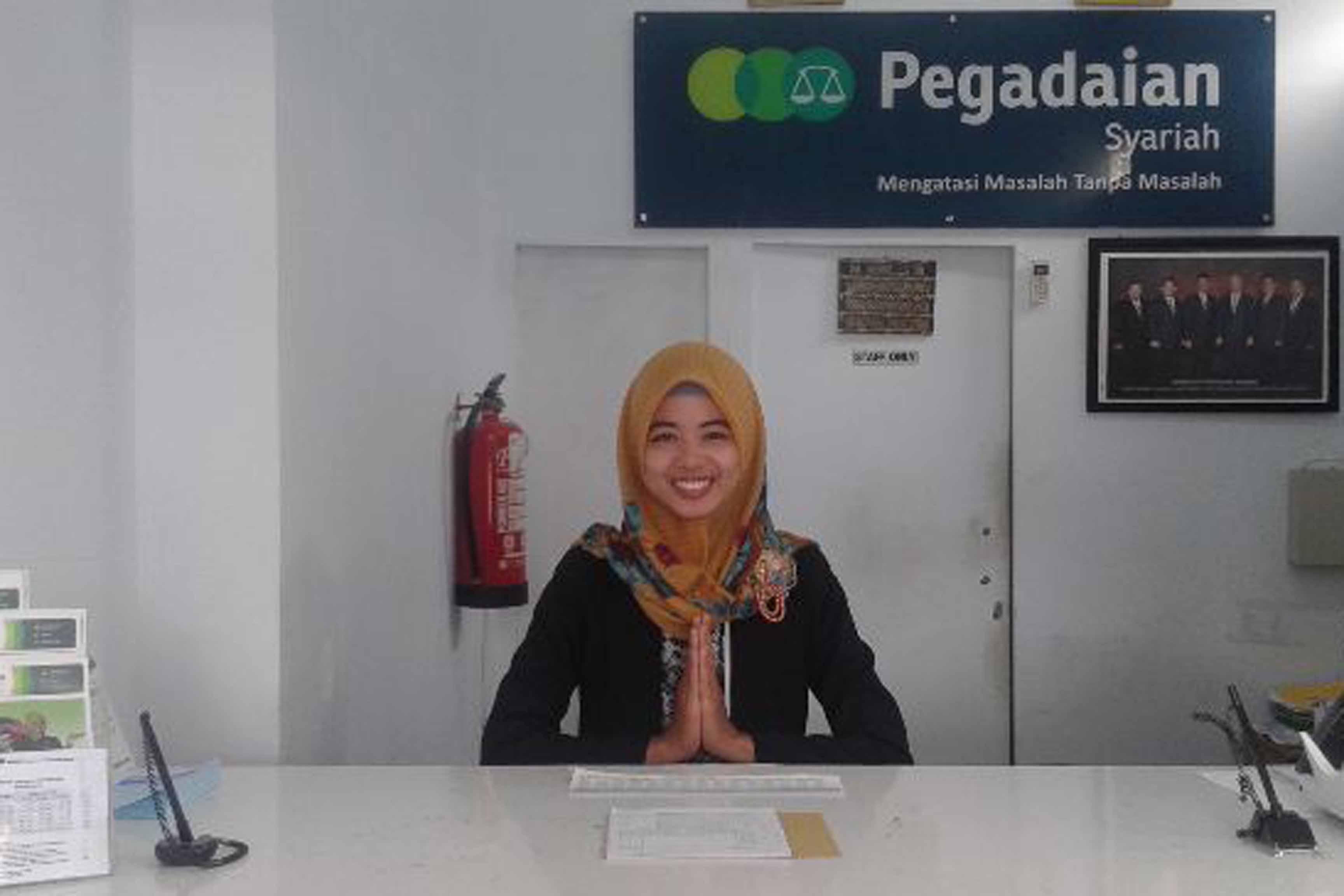 Pegadaian Syarian Unit Urip Sumoharjo Bandarlampung.  (Lampungnews/Davit)