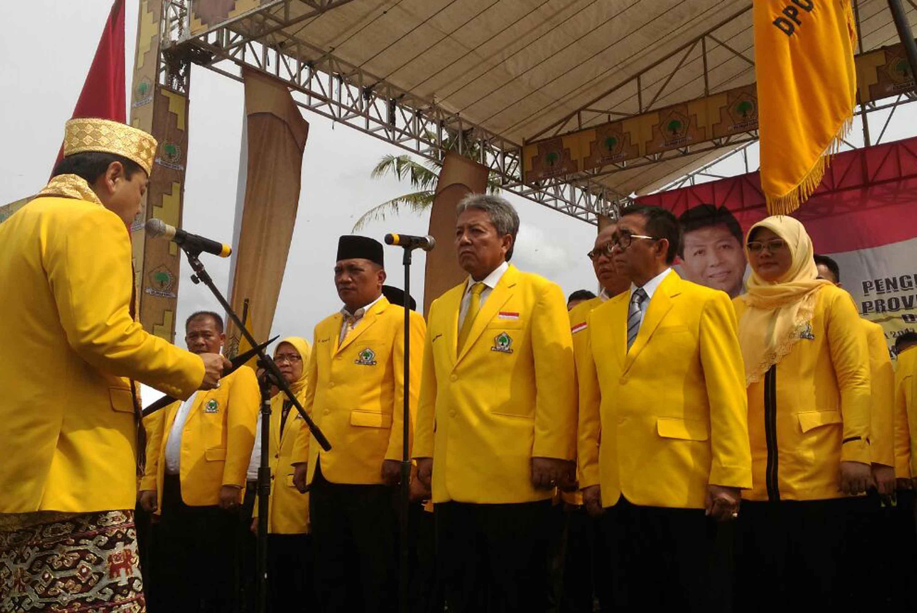 Pelantikan Pengurus DPD I Partai Golkar Lampung.   (Lampungnews/Davit)