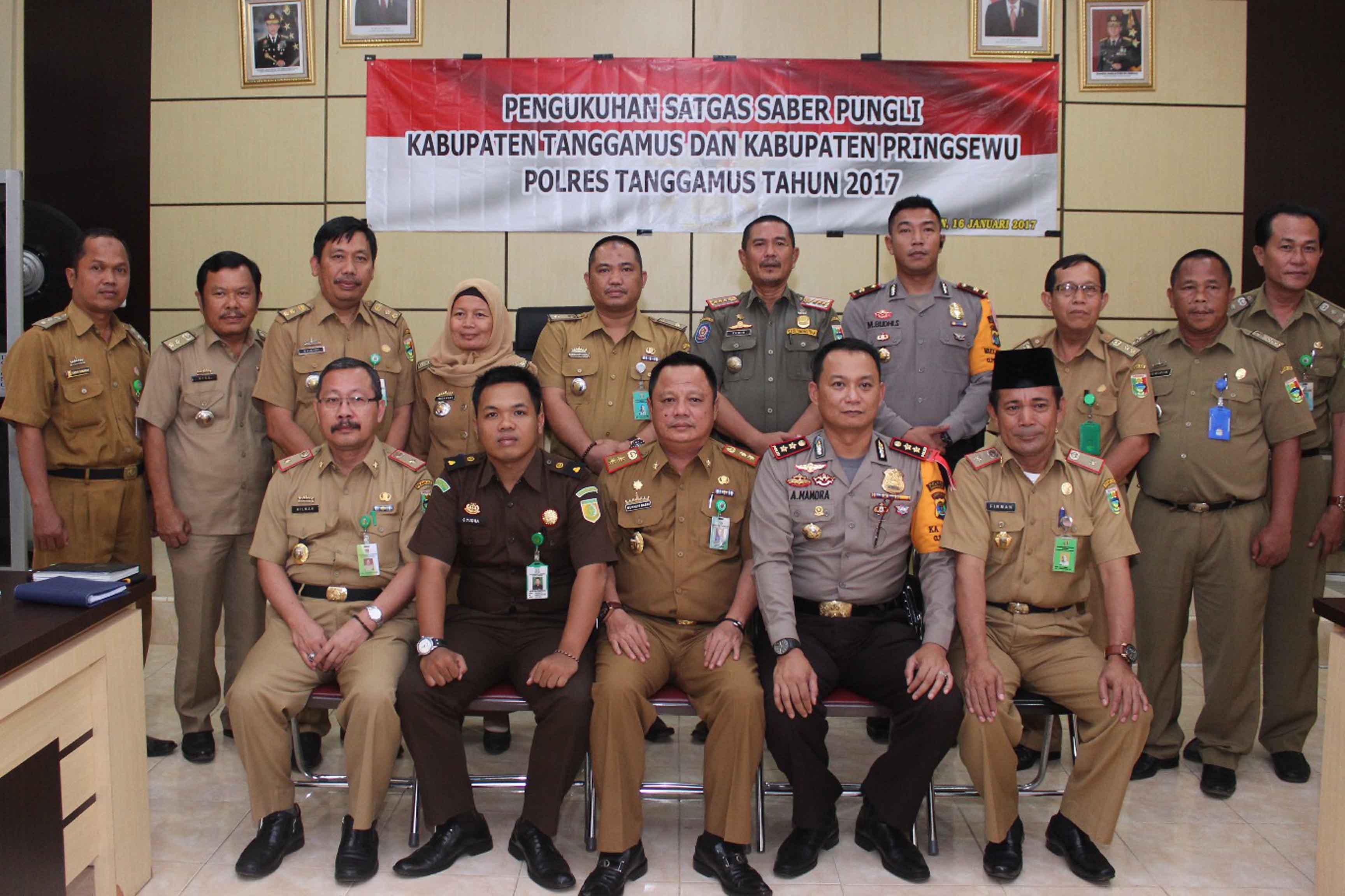 Tim Saber Pungli Kabupaten Pringsewu dan Tanggamus  (Lampungnews/Anton)