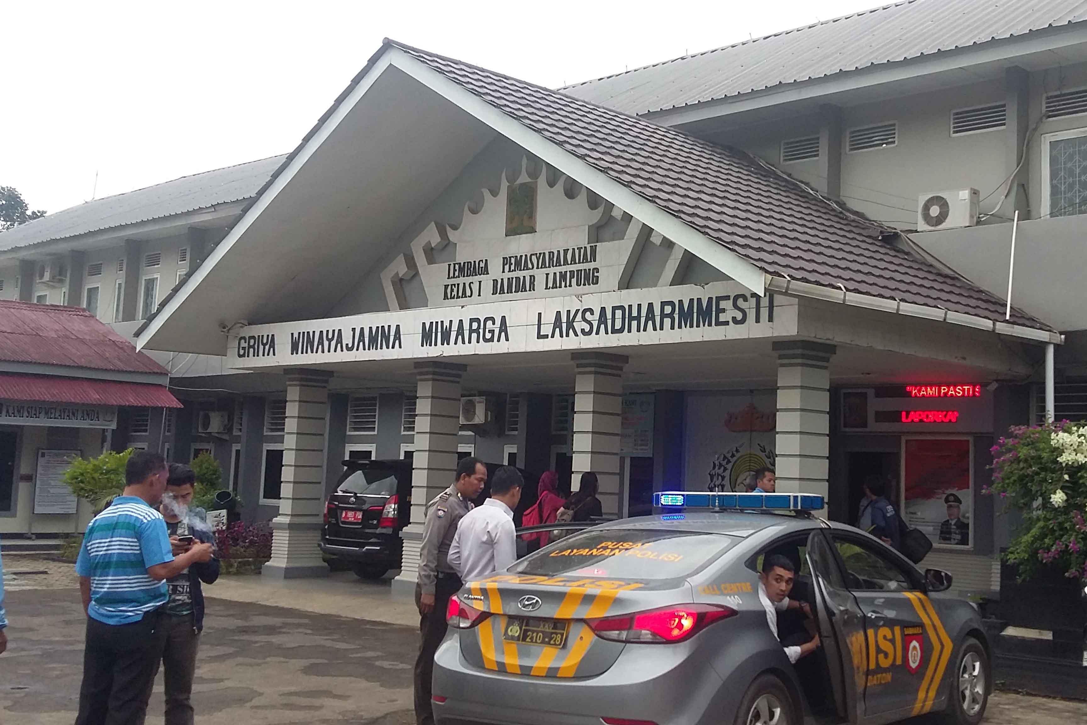 Lapas Klas I Rajabasa Bandarlampung (Lampungnews/Davit)