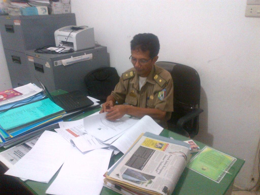 Kepala Bidang Pemberdayaan Pekon Dan Kelurahan (DPPK) Pringsewu Wahyu Darmanto. (Lampungnews.com/Anton)