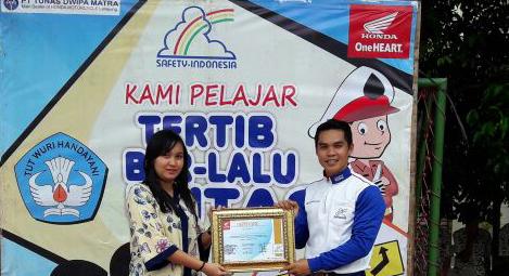 Tim safety riding mengunjungi SMA Negeri 3 Bandar Lampung. Foto Lampungnews/Davit.
