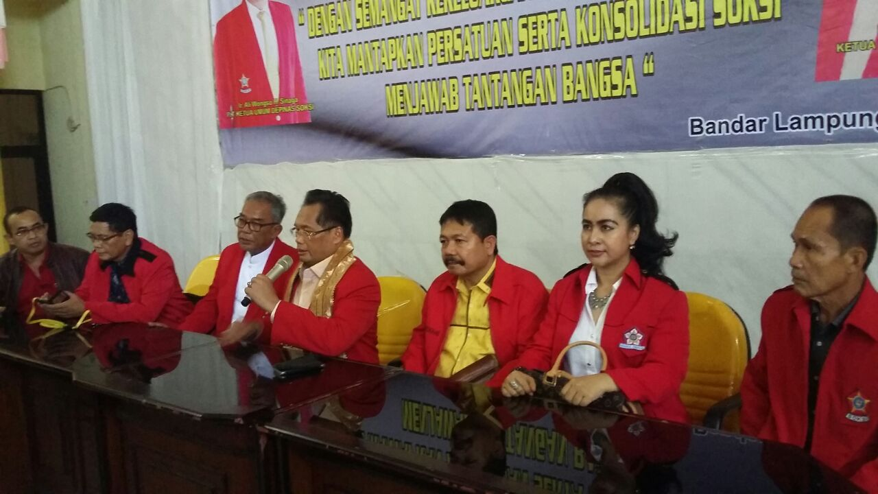Rapimda dan Rakerda VII Soksi Lampung, Kamis (9/2/2017). (Lampungnews/Davit)