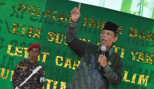 Ketua PWNU Lampung, KH Soleh Bajuri. Foto Gatot Arifianto.