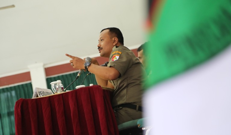 Kepala Satuan Koordinasi Nasional Barisan Ansor Serbaguna (Kasatkornas Banser) H Alfa Isnaeni. Foto Gatot Arifianto.