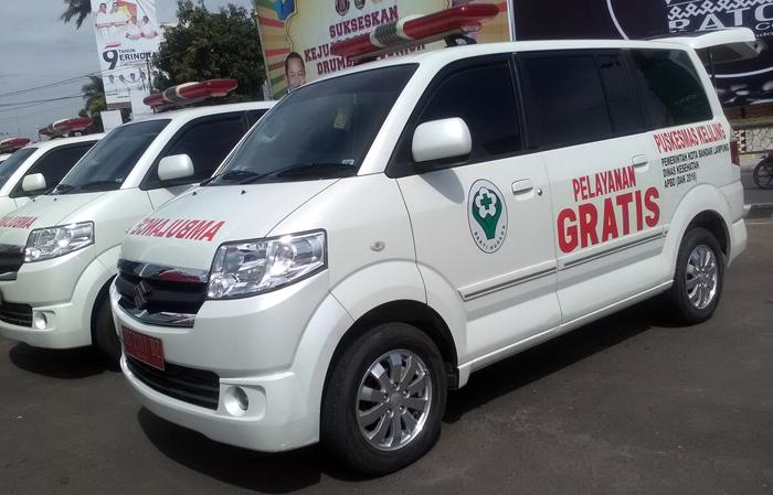 Ambulan gratis Pemkot Bandarlampung. Foto Ist.