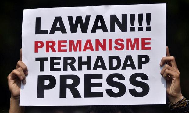 Ilustrasi. Kampanye stop kekerasan terhadap jurnalis. Ist