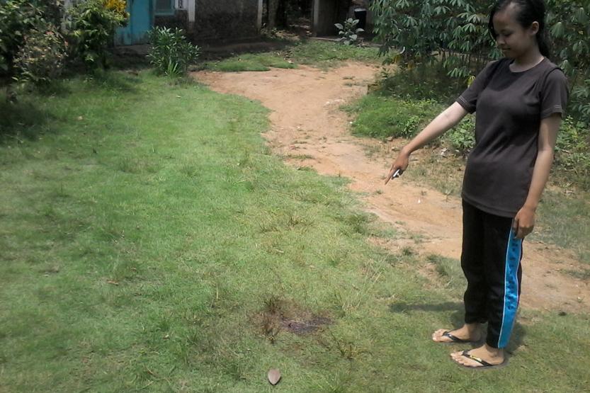 Lokasi ditemukannya pemuda yang bersimbah darah di Pajaresuk, Pringsewu. (Lampungnews/Anton Nugroz)