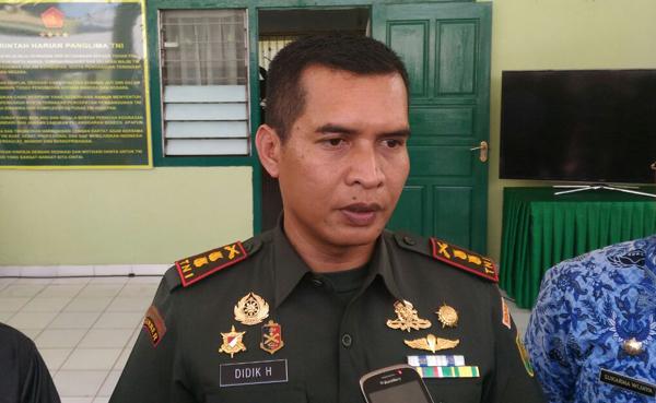 Komandan Kodim (Dandim) 0410/Kota Bandar Lampung (KBL), Letnan Kolonel Arm Didik Harmono. Foto Lampungnews.com/Adam/17.