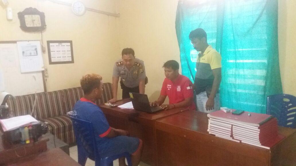 Tersangka pencabulan ditangkap Polsek Punggur. (Lampungnews/Zir)