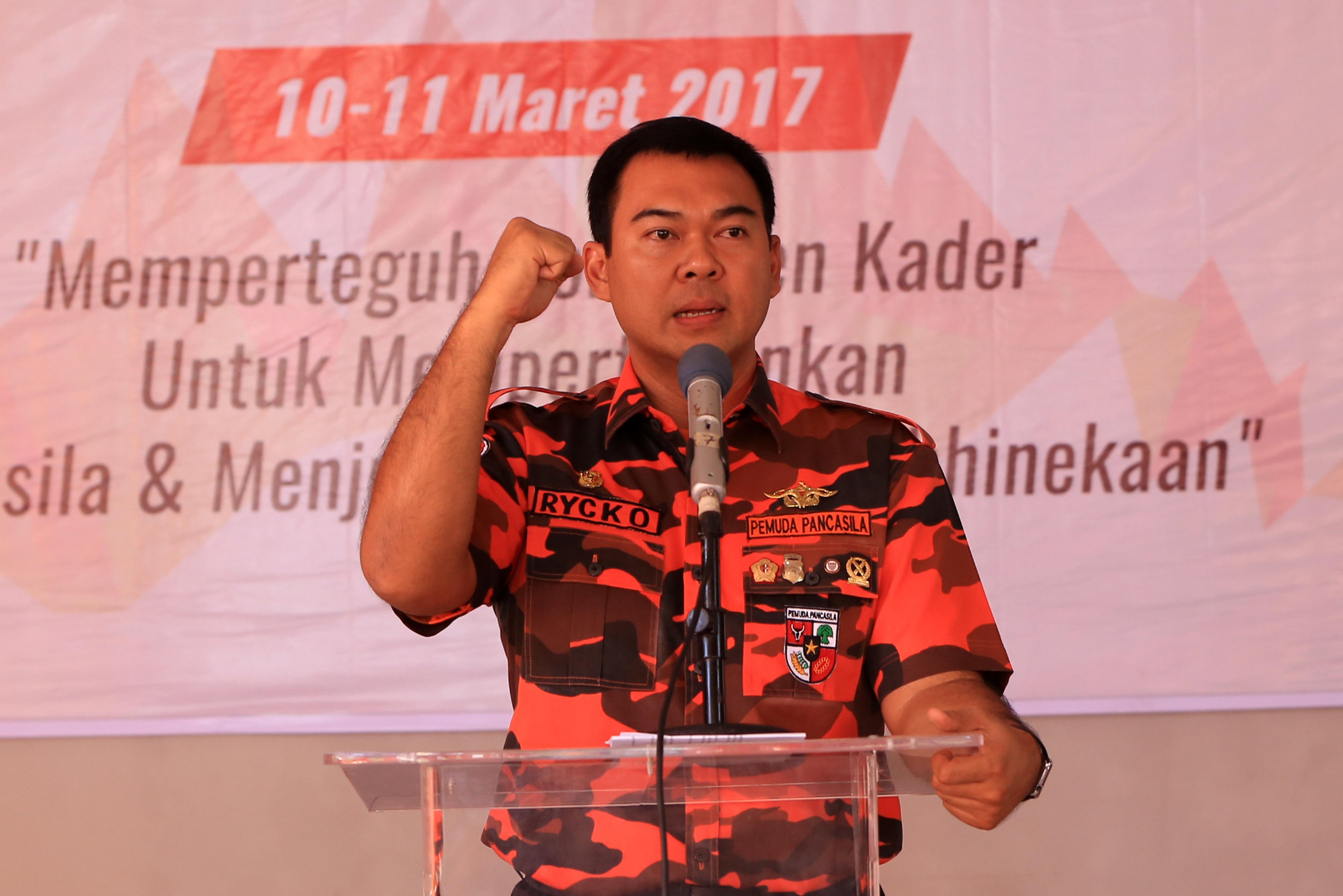 Ketua MPW Pemuda Pancasila Provinsi Lampung, Rycko Menoza SZP