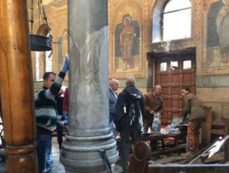 Serangan Gereja Koptik Mesir April 2017 (Sosial Media/Haaretz)