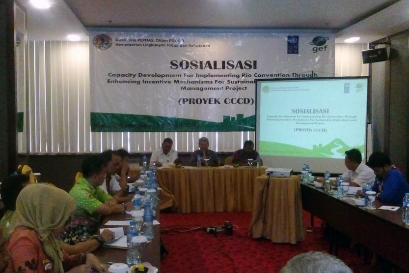 Sosialisasi program Kementerian Lingkungan Hidup dan Kehutanan. (Lampungnews/Michella)