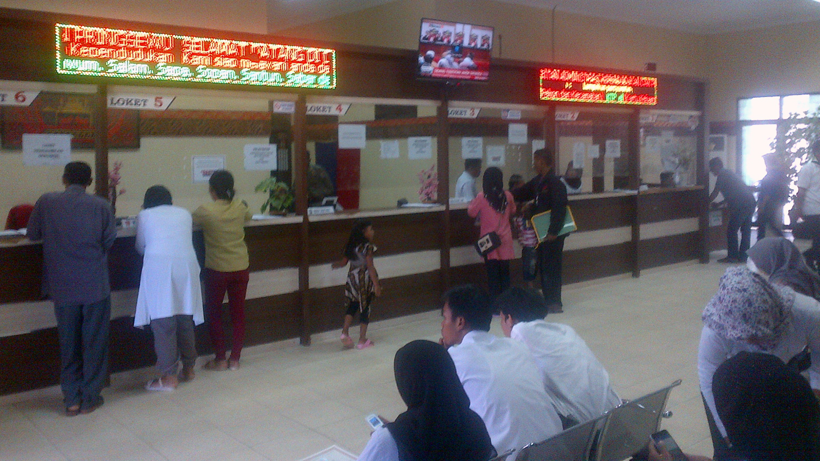 Ruang pelayanan Kantor Disdukcapil Pringsewu. (Lampungnews/Anton Nugroz)