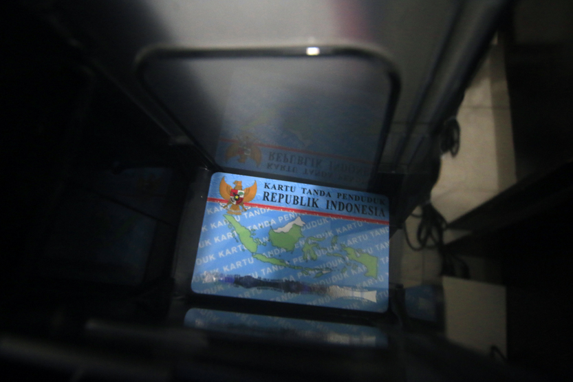 KTP-El yang sudah melalui proses pencetakan. (Lampungnews/El Shinta)