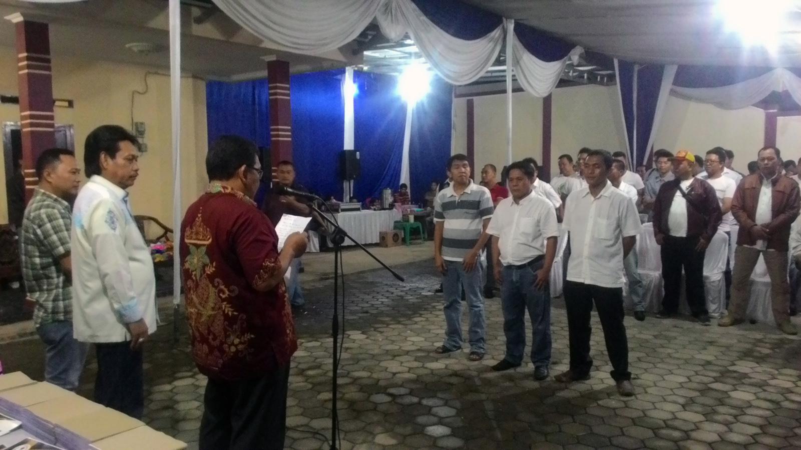 Pengukuhan Asosiasi Suplier Kopi Lampung (ASKL) Sabtu (8/4) malam. (Lampungnews/Davit)