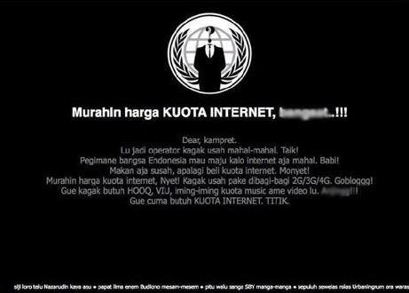 Tampilan di website Telkomsel Jumat Pagi