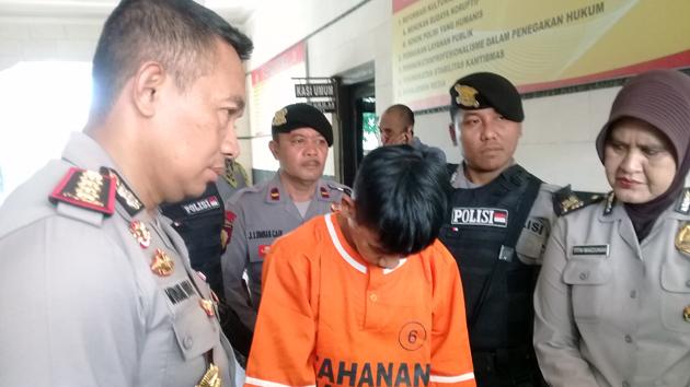 Tersangka Rian. (Lampungnews/Adam)