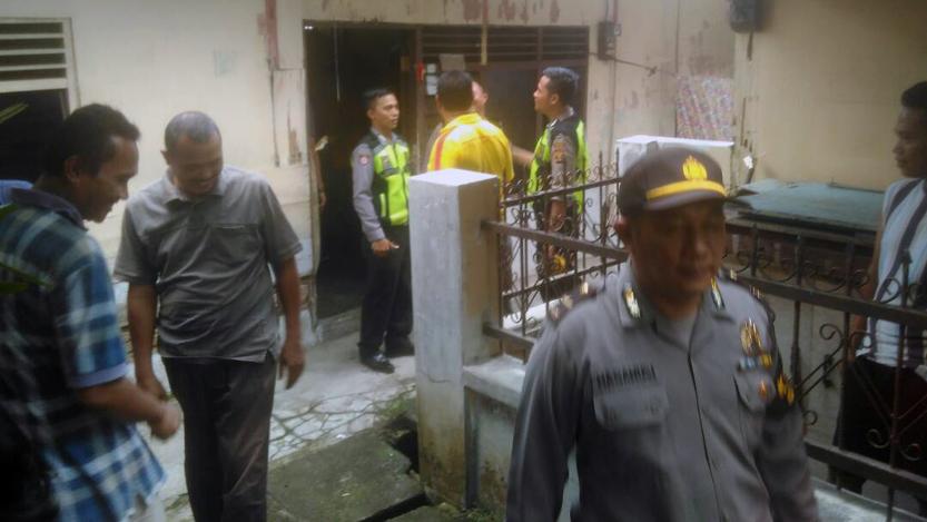 Lokasi bunuh diri. (Lampungnews/Adam)