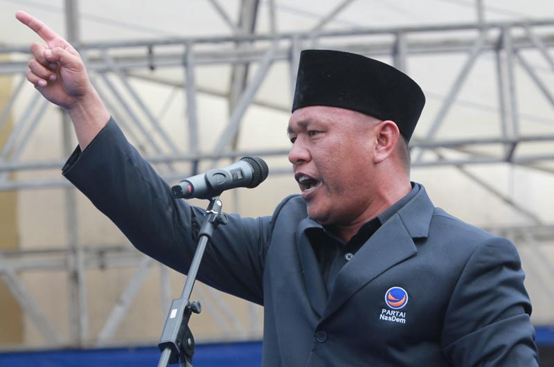 Ketua DPW Partai Nadem Lampung, Mustafa. (Lampungnews El Shinta)