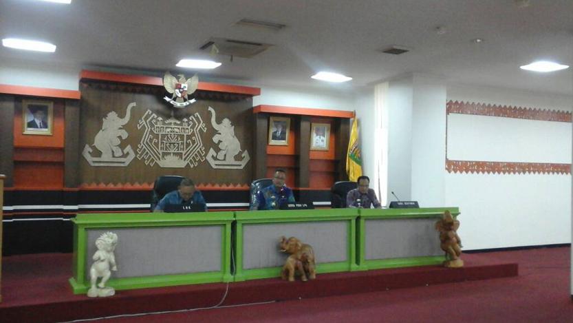 Rapat persiapan kunjungan Jokowi ke TNWK. (Lampungnews/Davit)