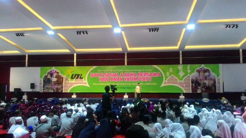 Buka bersama alumni UBL. (Lampungnews/Davit)