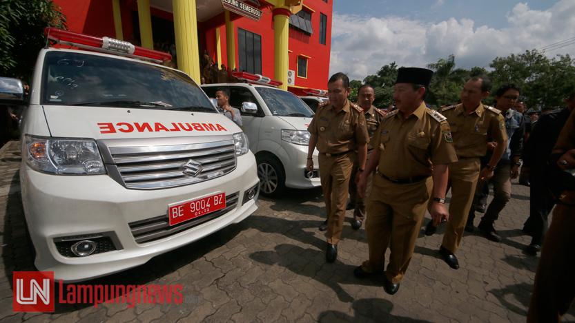Ambulans gratis Pemkot Bandarlampung. (Lampungnews/El Shinta)