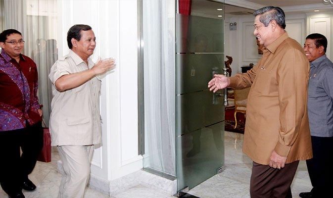 Kamis Malam, Prabowo Temui SBY di Cikeas