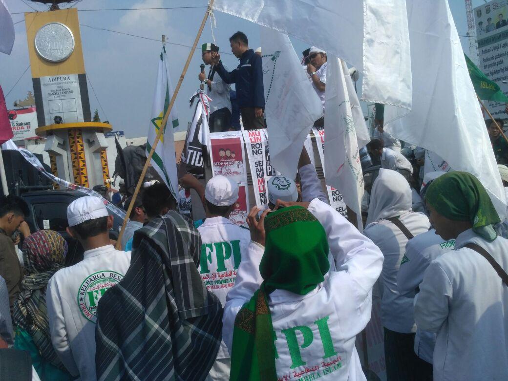 Ribuan Umat Muslim Lampung, Gelar Aksi Bela Rohingya