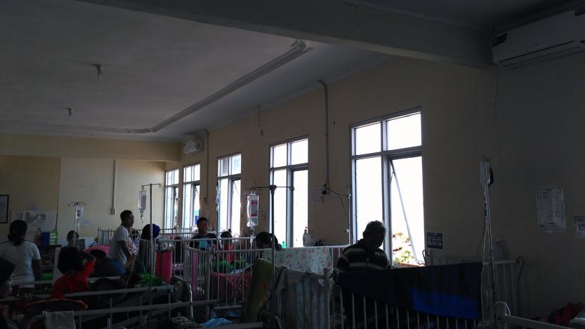 Bangsal tempat kini Zaki dirawat. (Lampungnews/Anton Nugroz)