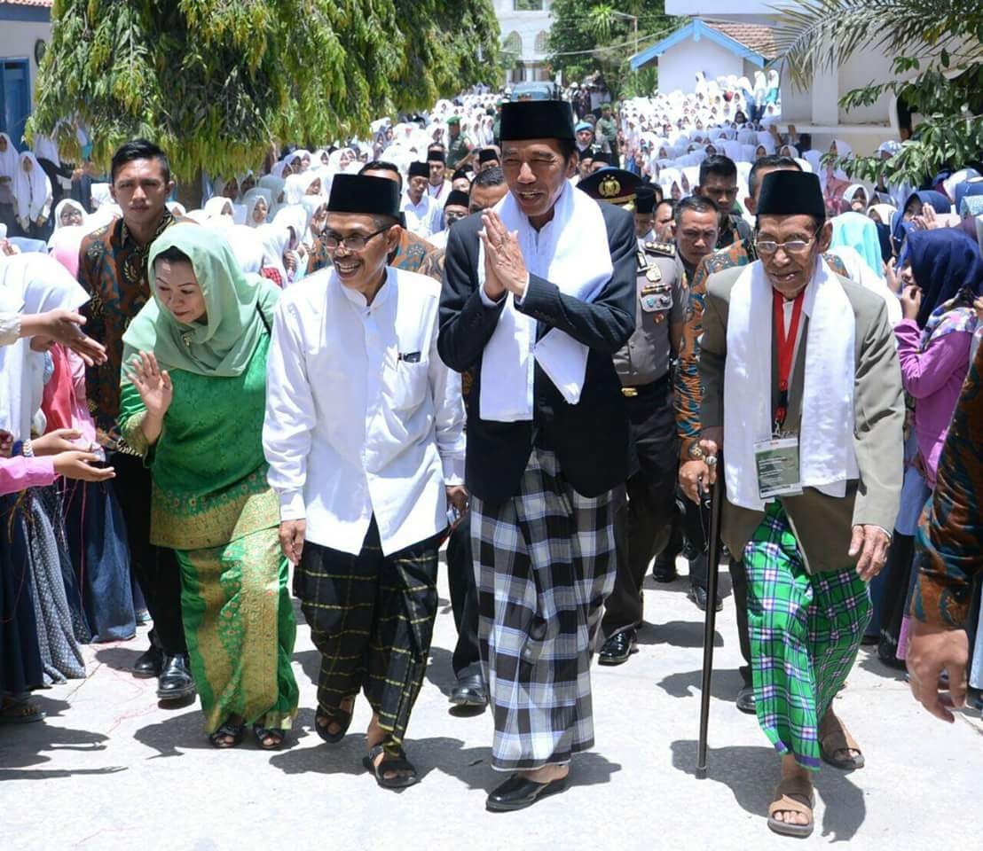 Kunjungan Presiden Jokowi ke Sumenep Madura.
