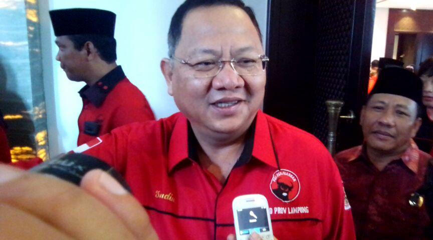 Ketua DPD PDI Perjuangan Lampung, Sudin. (Lampungnews.com)/Davit)