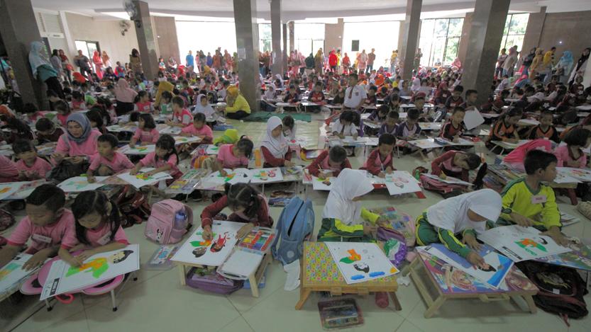 Ratusan Anak Adu Imajinasi di Coloring Competition Super Kids K-Link