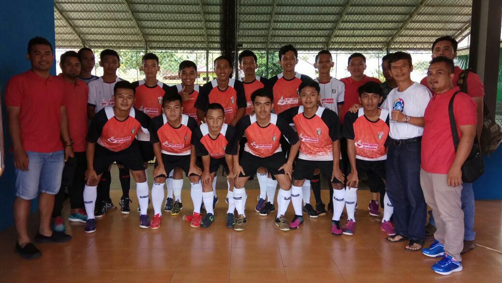 Tim Futsal Kabupaten Pringsewu pada Porprov Lampung VIII 2017 (Ist)