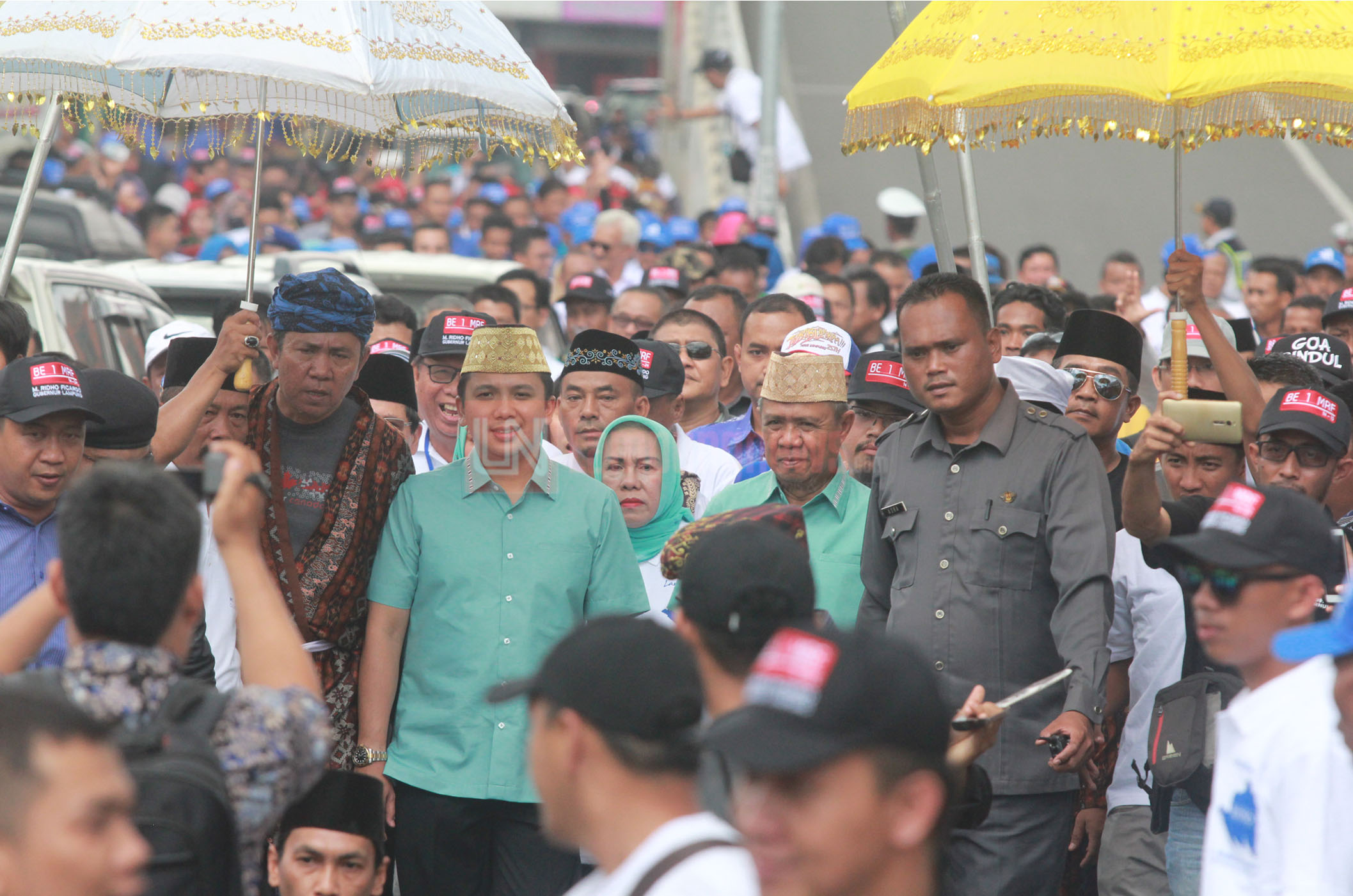 (Snapshot) Hari Terakhir Pendaftaran, Dua Pasang Bacagub Sambangi KPU Lampung