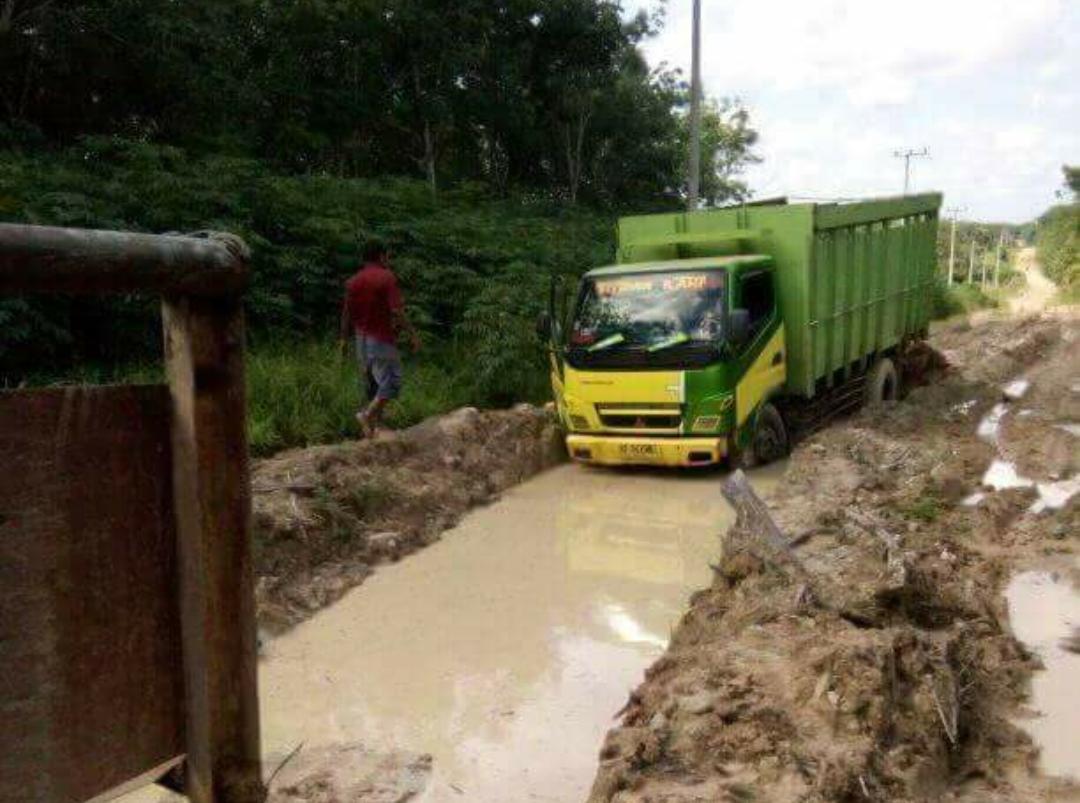 (Foto) Miris, Netizen Posting Foto Jalan Rusak di Waykanan