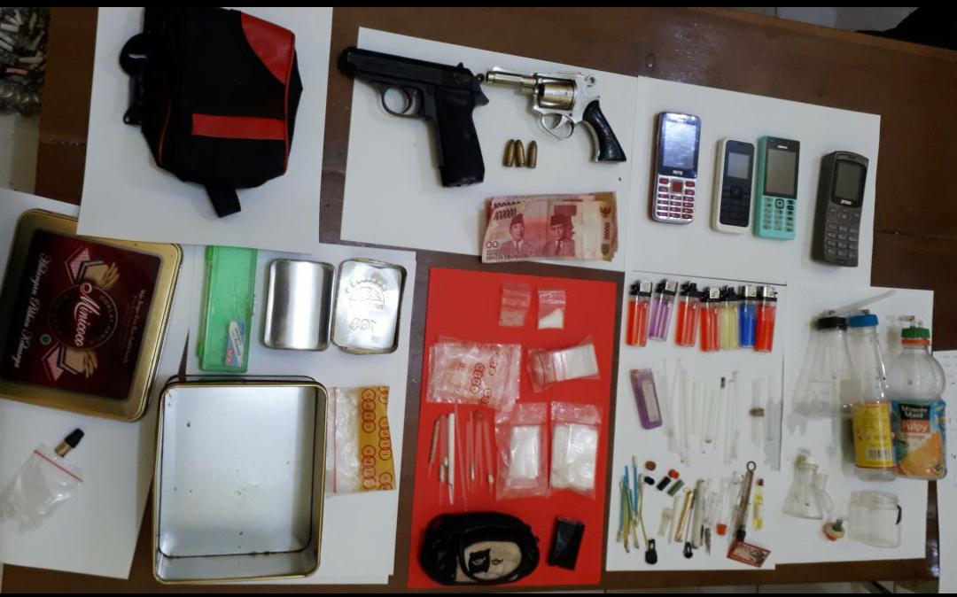 Barang bukti hasil penangkapan pelaku (Lampungnews/candra)
