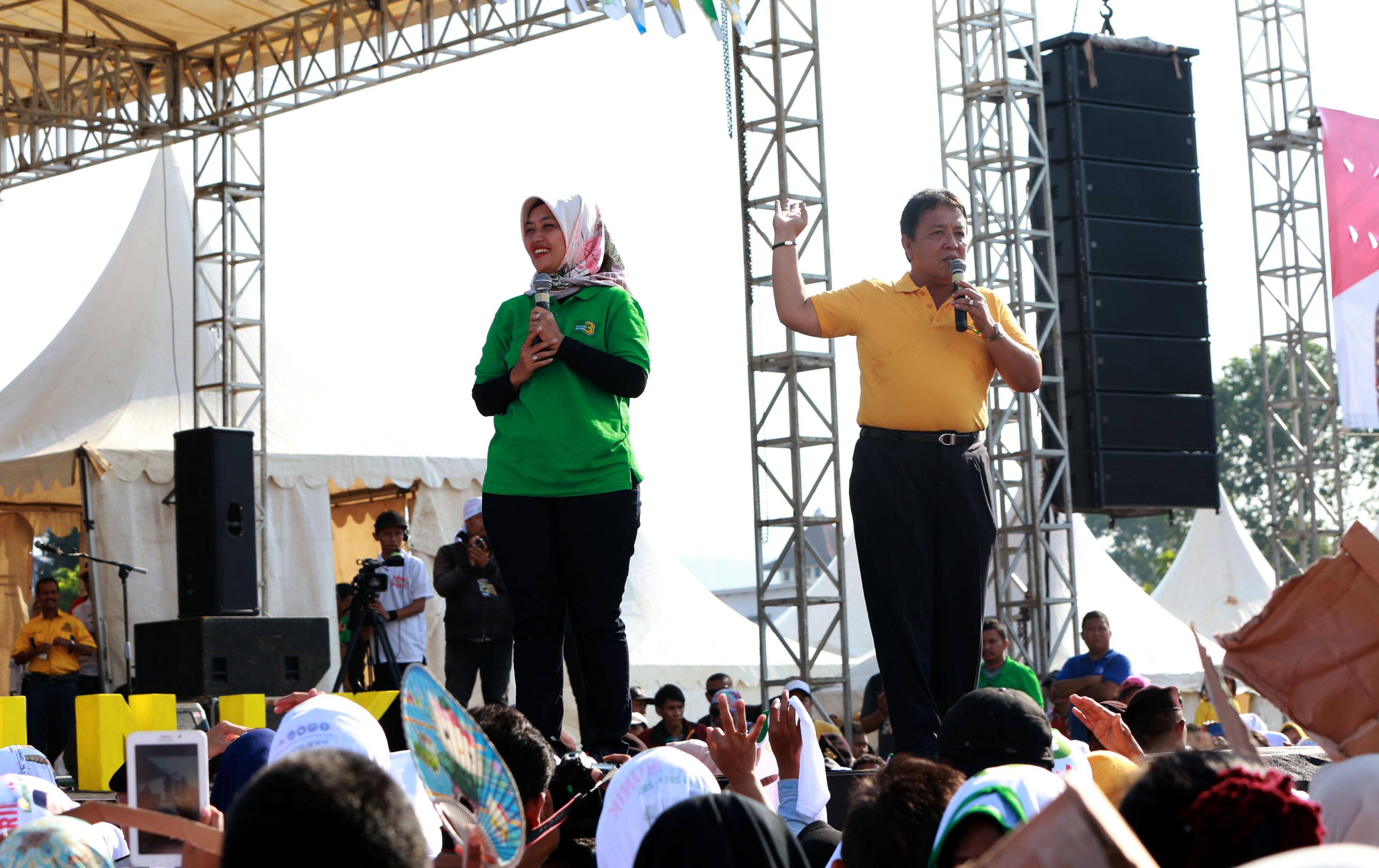 Kampanye Arinal-Nunik di Kemiling, Bandarlampung beberapa waktu lalu. (Cris/Lampungnews)
