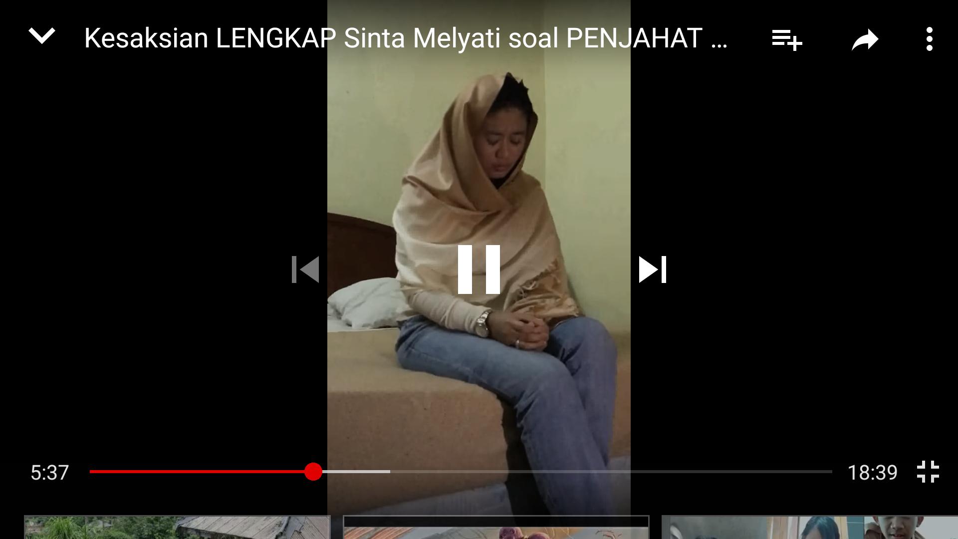 Screenshoot video pengakuan skandal seksual Sinta Melyati