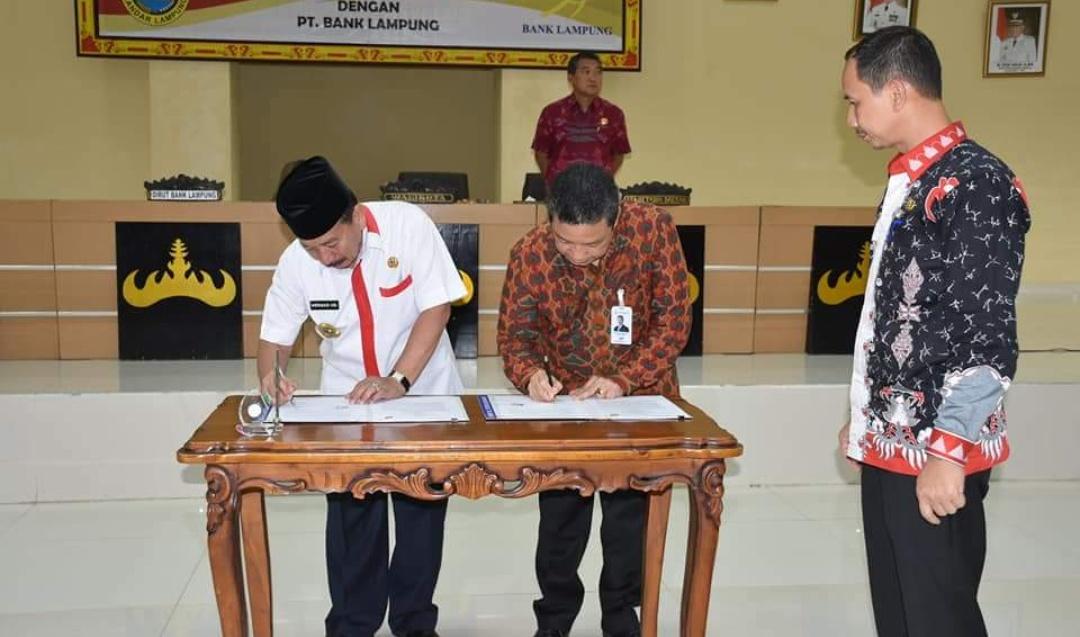 Pemkot Bandarlampung dan Bank Lampung Kerjasama Pembayaran Gaji Secara Online