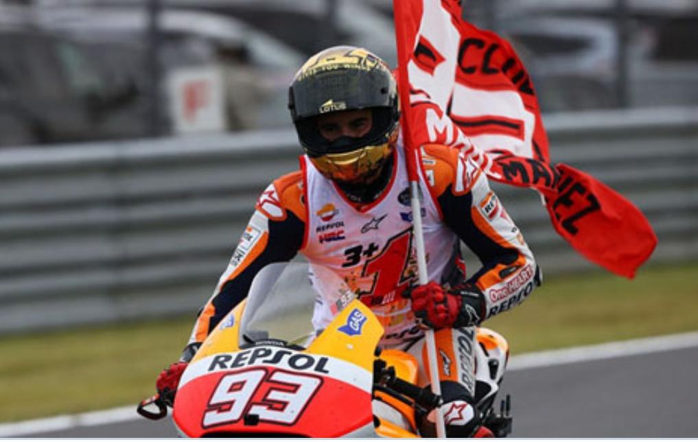 Pembalap Repsol Honda Marc Marquez (motogp)