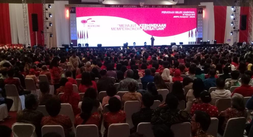 Jokowi Hadiri Peringatan Imlek di JIEXPO Kemayoran Jakarta