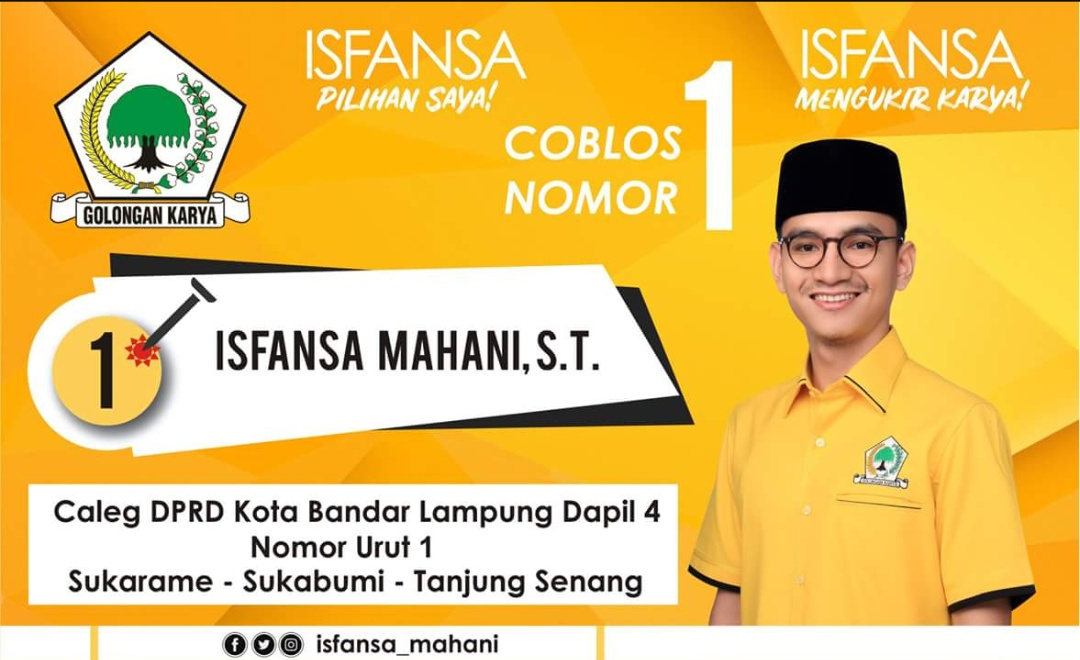 Putra Gubernur Lampung Terpilih, Caleg Isfansa Lakukan Kampanye Dialogis di Bandarlampung