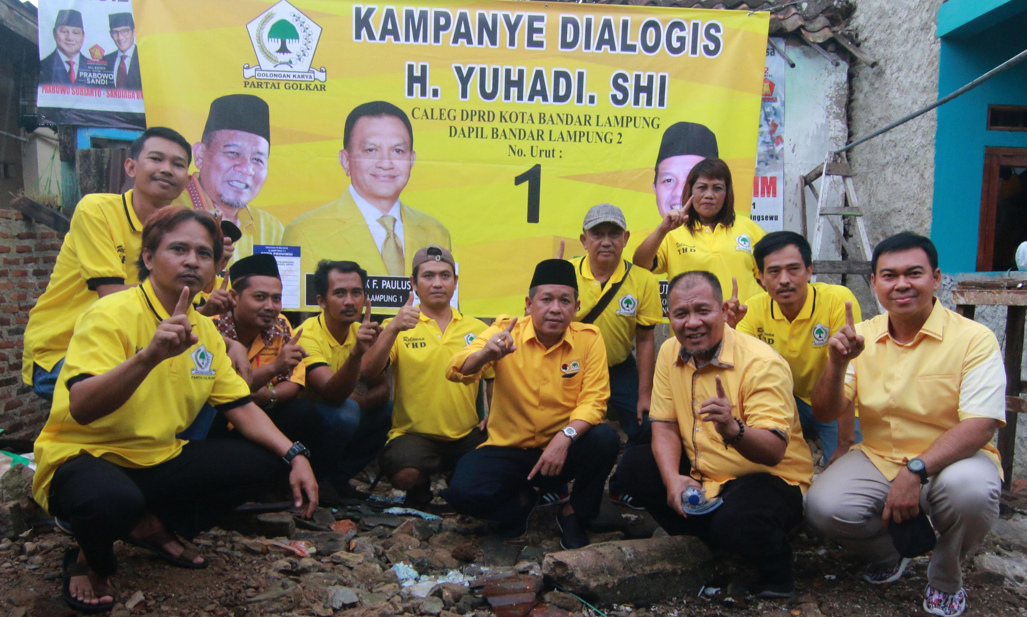 Rycko Menoza Dampingi Caleg Golkar Kampanye Dialogis di Bandarlampung
